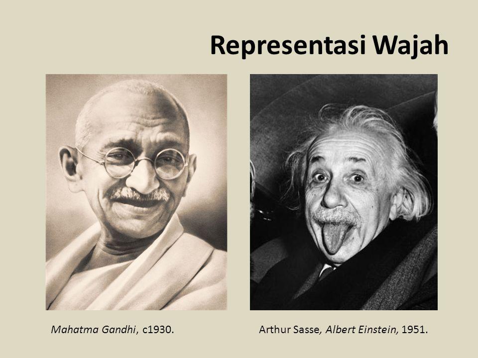 Representasi Wajah Mahatma Gandhi, c1930.Arthur Sasse, Albert Einstein, 1951.