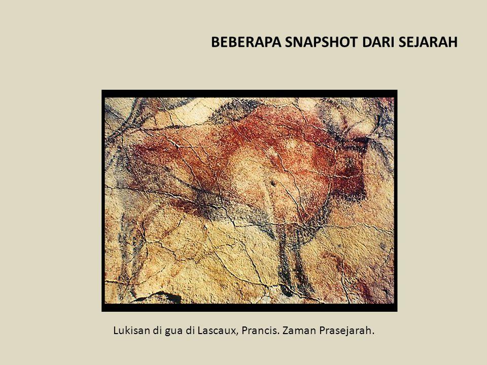 Lukisan di gua di Lascaux, Prancis. Zaman Prasejarah. BEBERAPA SNAPSHOT DARI SEJARAH
