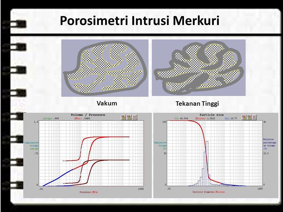 Porosimetri Intrusi Merkuri Vakum Tekanan Tinggi