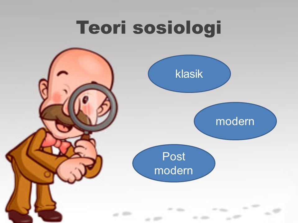 Teori sosiologi klasik Post modern