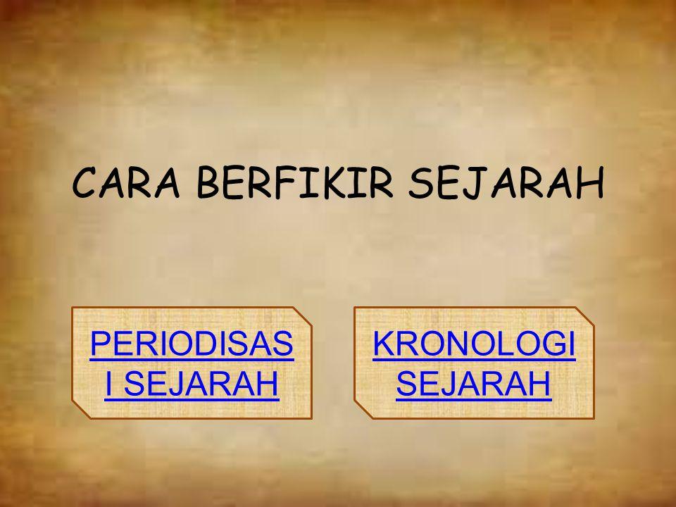 CARA BERFIKIR SEJARAH PERIODISAS I SEJARAH KRONOLOGI SEJARAH