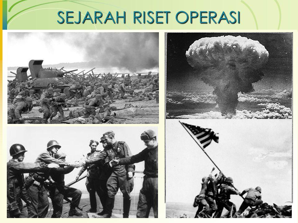 Tugas  Cari contoh kasus penerapan Riset Operasi (Operations Research/OR) yang digunakan dalam dunia nyata.