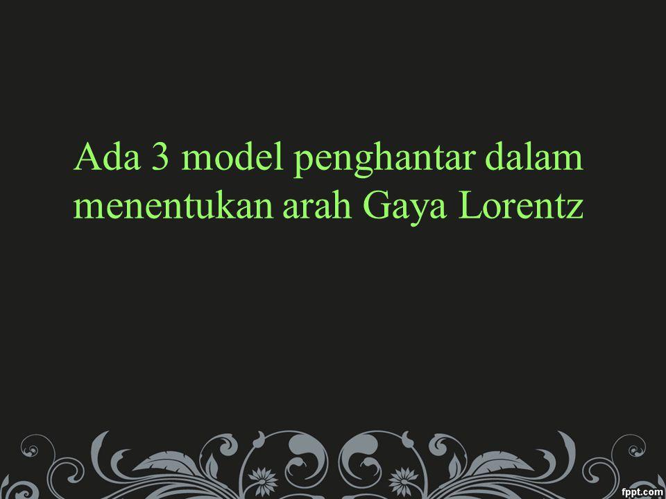Ada 3 model penghantar dalam menentukan arah Gaya Lorentz
