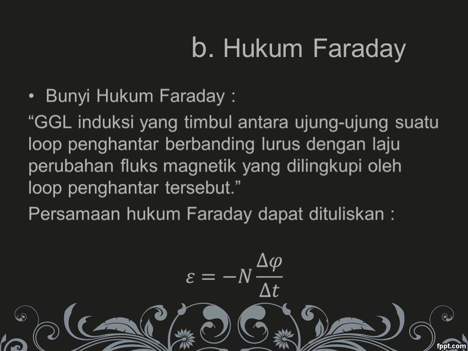 b. Hukum Faraday