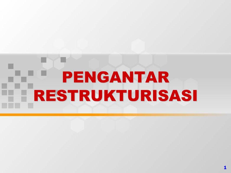 22PENGANTAR Proses restrukturisasi dengan menggunakan pendekatan harga pasar, akan mengakibatkan munculnya laba yang dalam bahasa UU Pajak dikatakan sebagai tambahan kemampuan ekonomis dan dikenakan pajak.