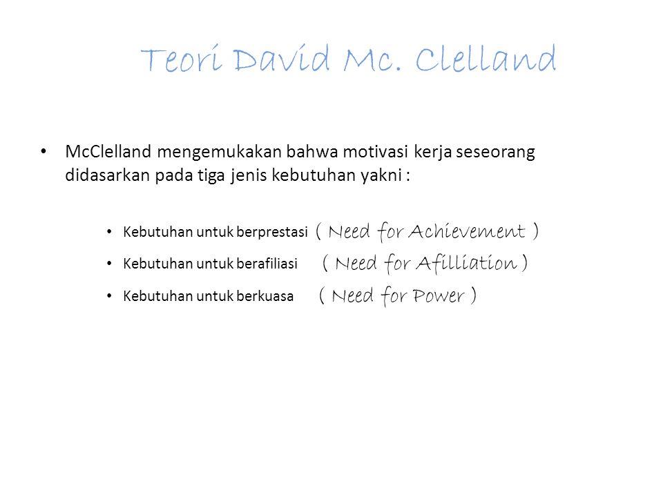 Teori David Mc.