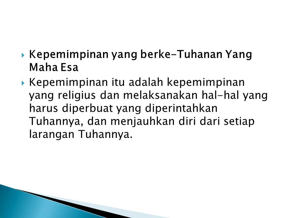 Bagaimana dengan kepemimpinan di Indonesia sampai saat ini?