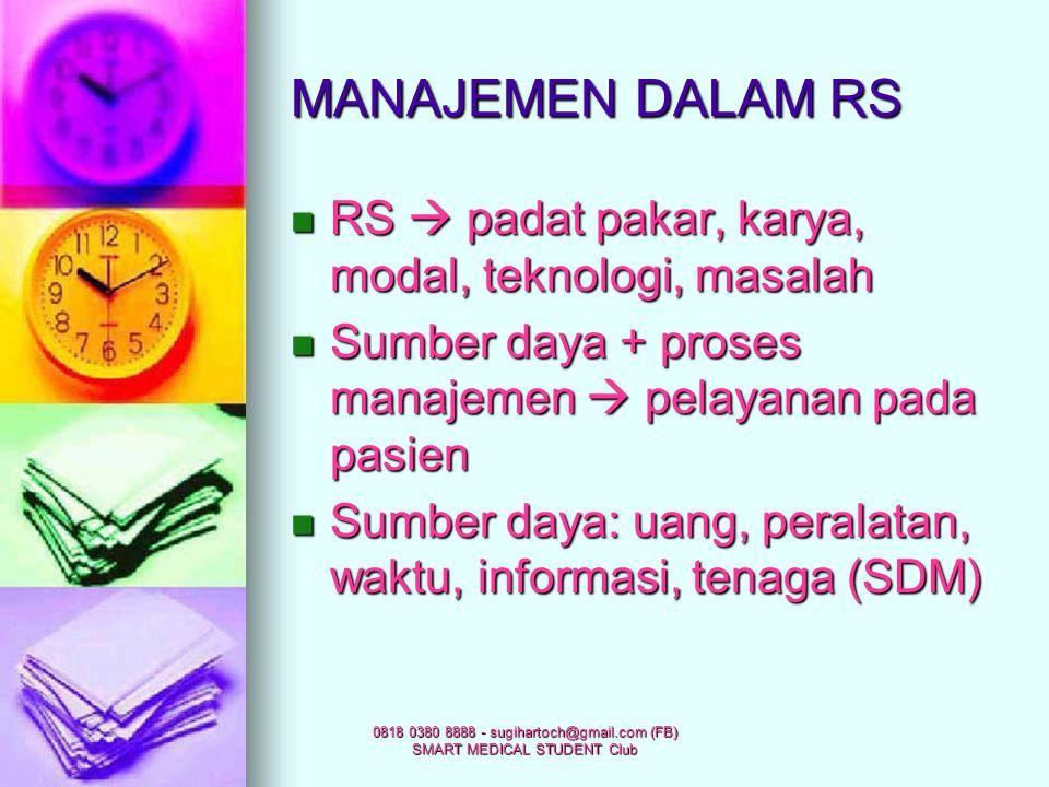 0818 0380 8888 - sugihartoch@gmail.com (FB) SMART MEDICAL STUDENT Club BAGAN ORGANISASI RS ORGANISASI RSORGANISASI RS