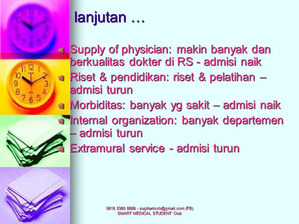 0818 0380 8888 - sugihartoch@gmail.com (FB) SMART MEDICAL STUDENT Club Service coverage & bed distribution: RS banyak di urban (kota), penduduk di rur