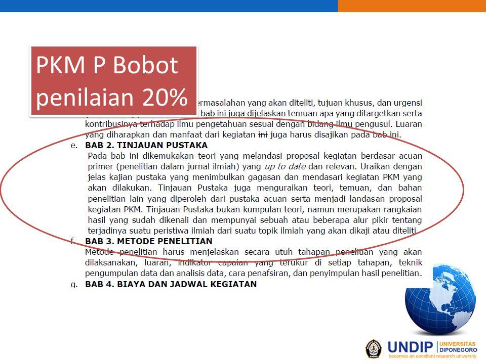 PKM P Bobot penilaian 20%