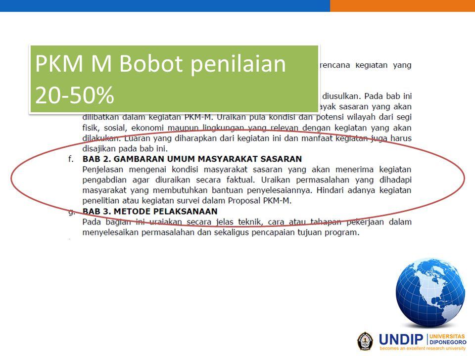 PKM M Bobot penilaian 20-50%