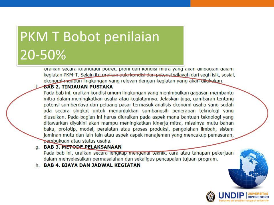 PKM T Bobot penilaian 20-50%