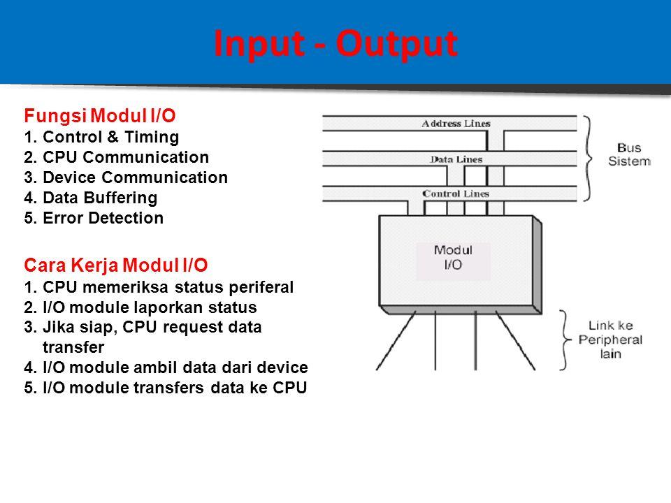 Input - Output 3.