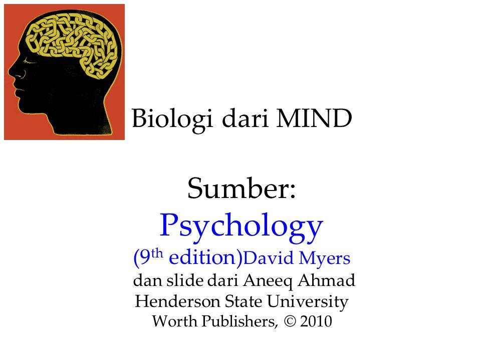 Biologi dari MIND Sumber: Psychology (9 th edition) David Myers dan slide dari Aneeq Ahmad Henderson State University Worth Publishers, © 2010