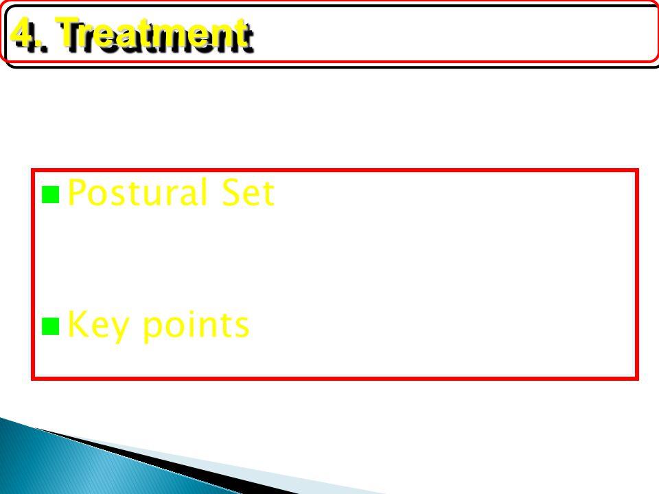 Postural Set Key points 4. Treatment