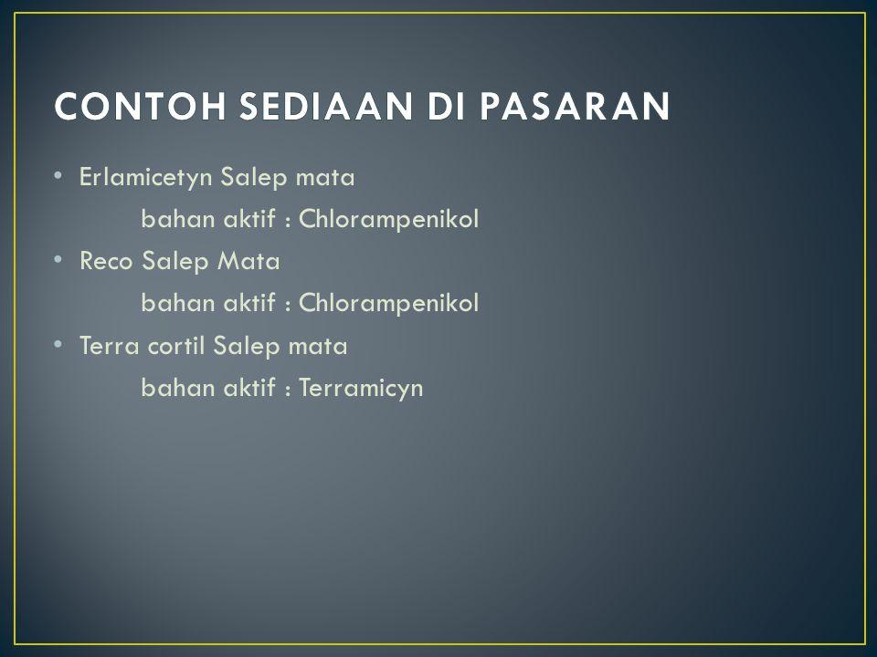 Dalam salep mata mengandung 1.Anti mikrobial 2.Anti Oksidan 3.Stabilizer 4.Pengawet