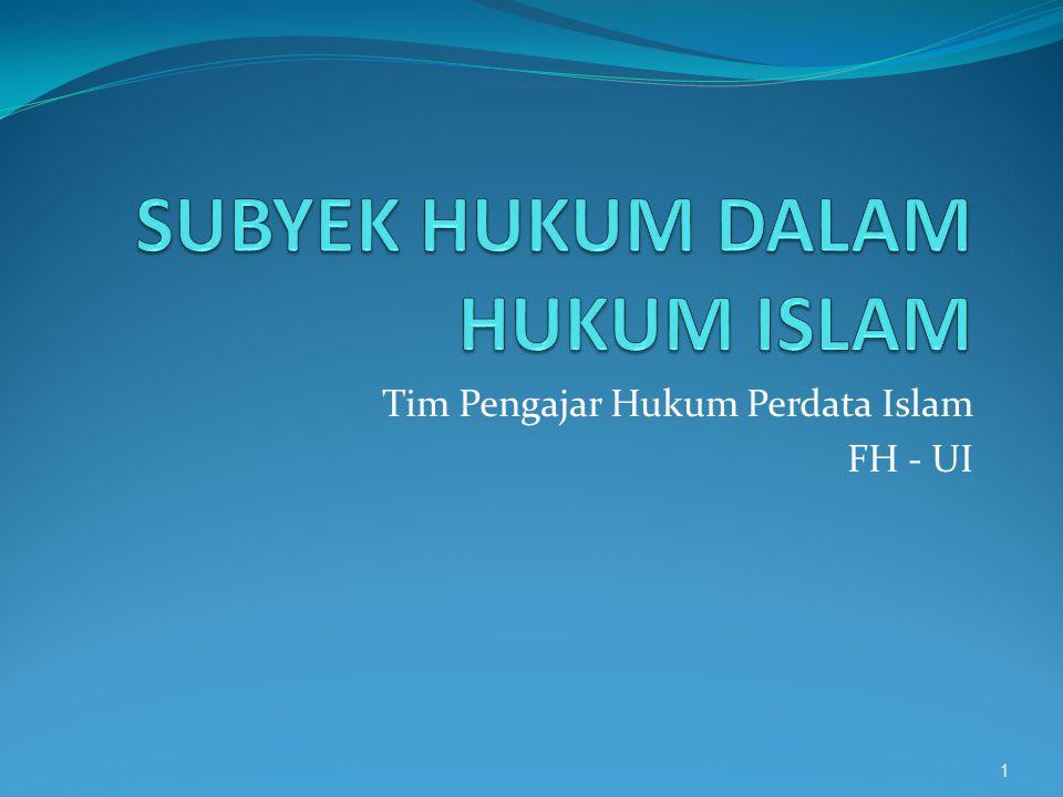 Tim Pengajar Hukum Perdata Islam FH - UI 1