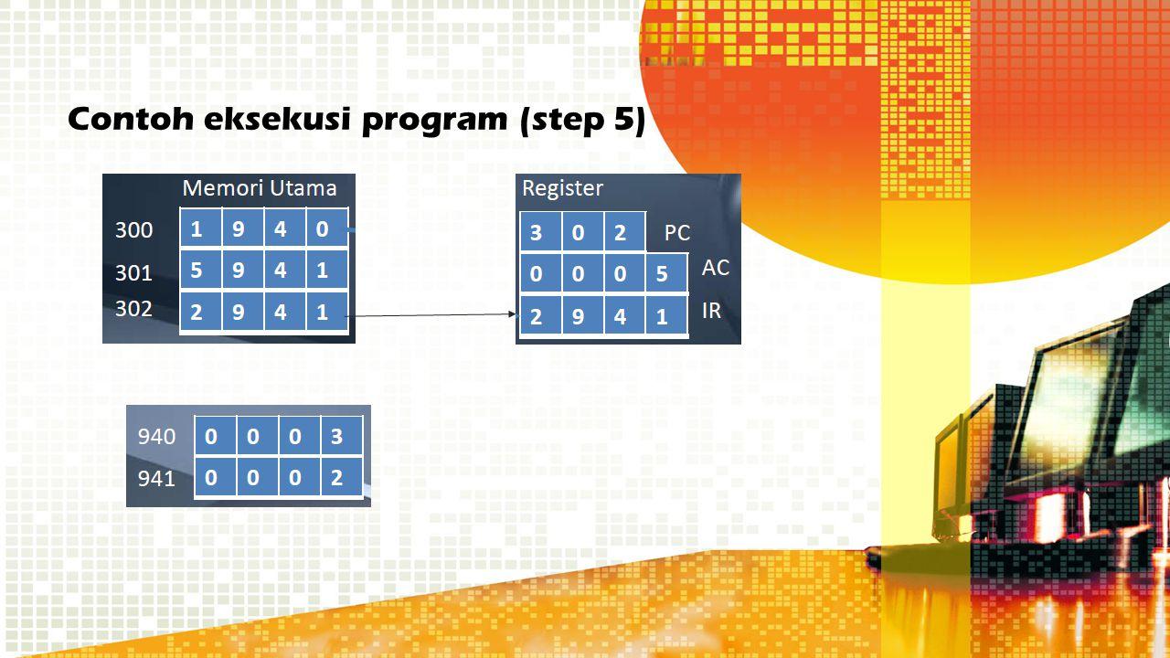 Contoh eksekusi program (step 5)