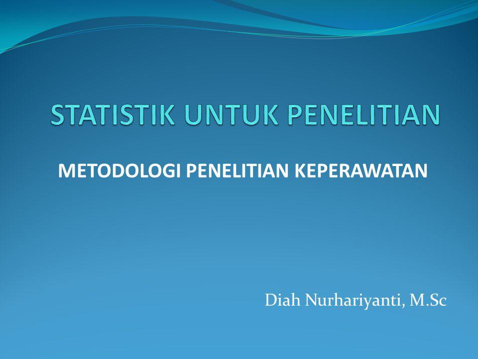 Diah Nurhariyanti, M.Sc METODOLOGI PENELITIAN KEPERAWATAN