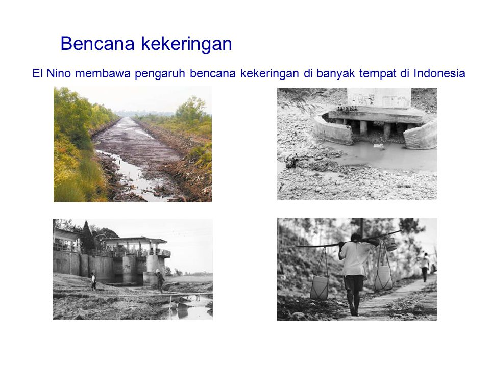 Bencana kekeringan El Nino membawa pengaruh bencana kekeringan di banyak tempat di Indonesia