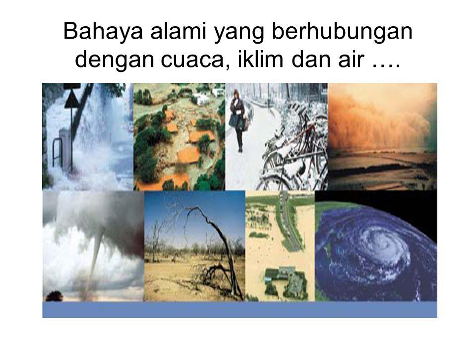 Bahaya alami yang berhubungan dengan cuaca, iklim dan air ….