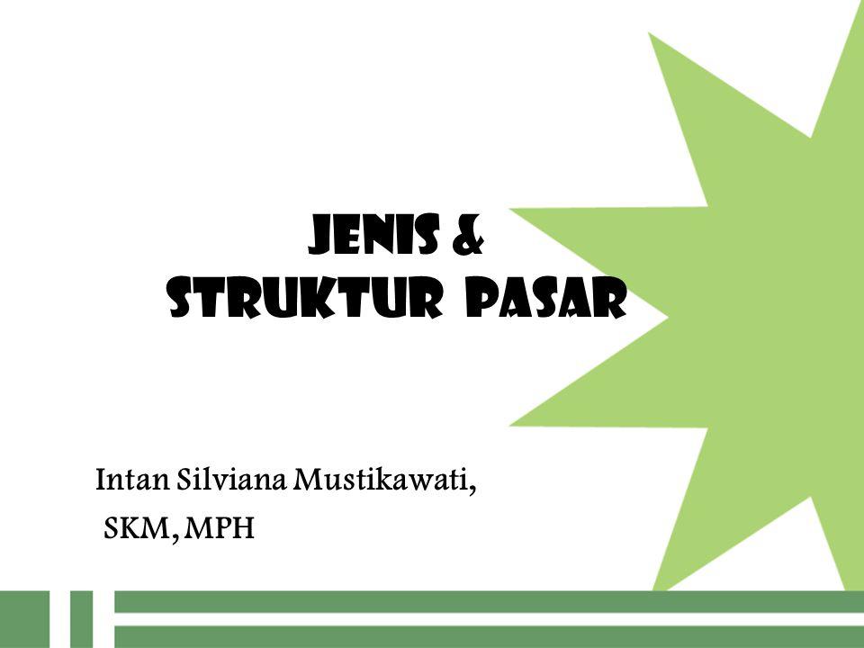 JENIS & STRUKTUR PASAR Intan Silviana Mustikawati, SKM, MPH