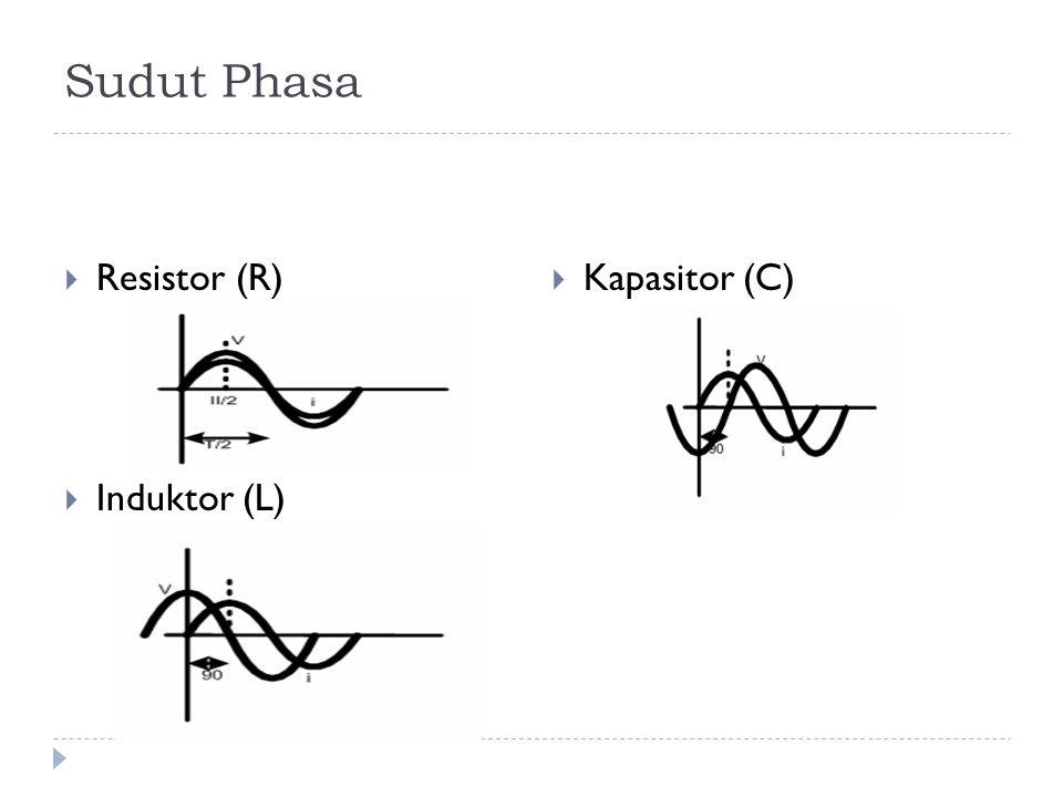  Sebuah rangkaian R = 10 Ω dan L = 20 mH, mempunyai arus i = 2 sin 500t (A).