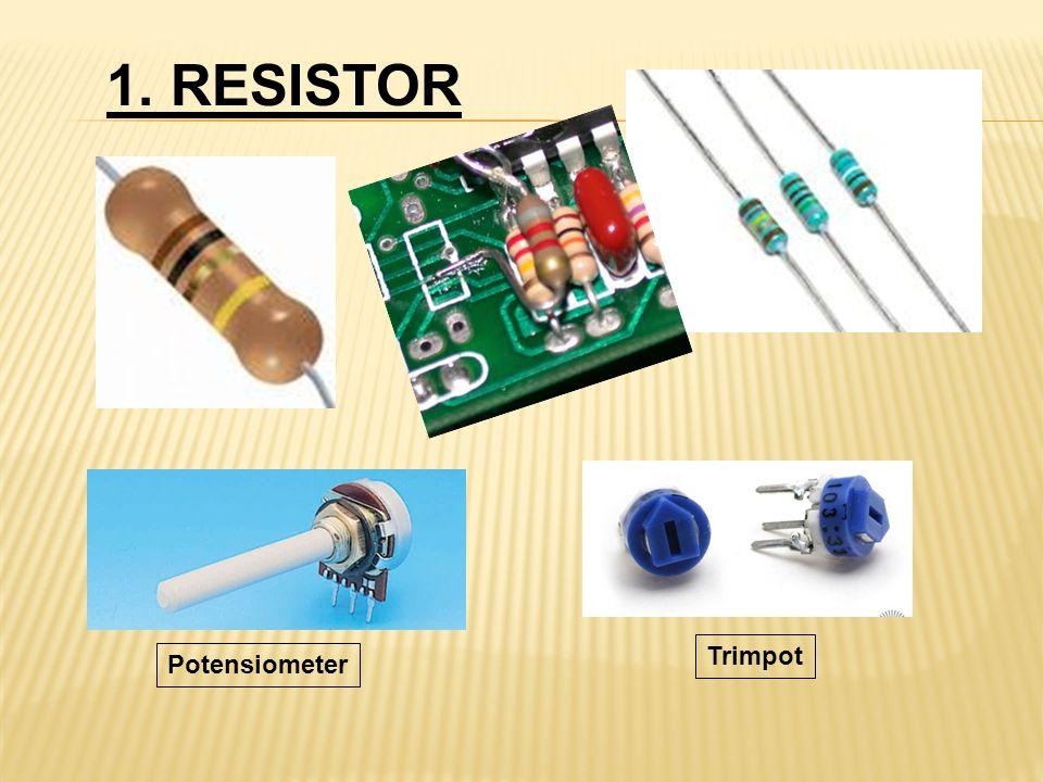 1. RESISTOR Potensiometer Trimpot