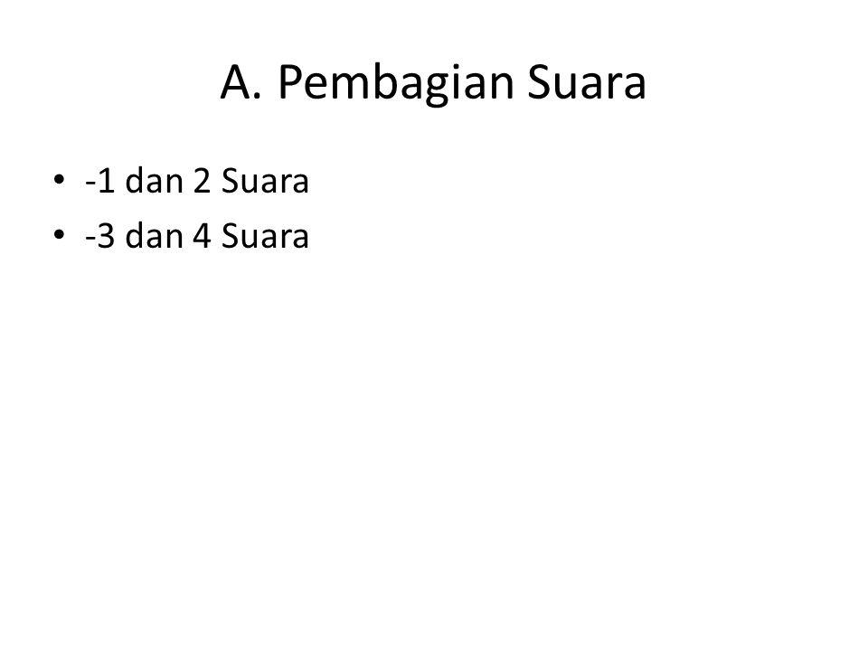 A. Pembagian Suara -1 dan 2 Suara -3 dan 4 Suara
