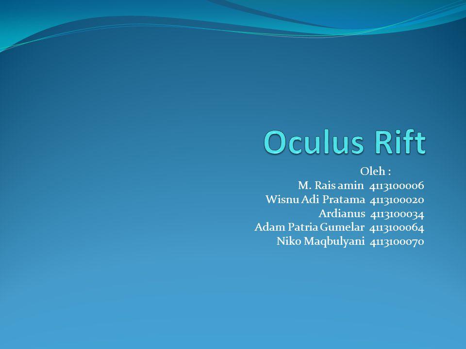 Apa itu Oculus Rift ??