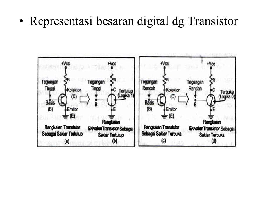 Representasi besaran digital dg Transistor
