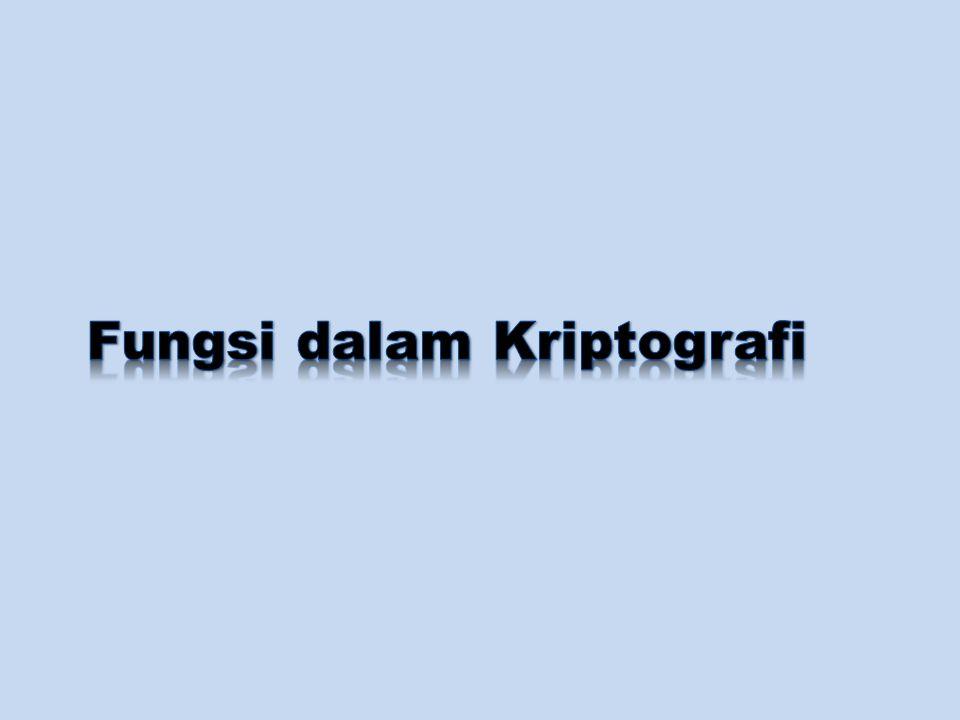 Defenisi Kriptografi Kriptografi: ilmu sekaligus seni untuk menjaga kerahasiaan pesan (data atau informasi) dengan cara menyamarkannya (to crypt artinya menyamar) menjadi bentuk yang tidak dapat dimengerti.