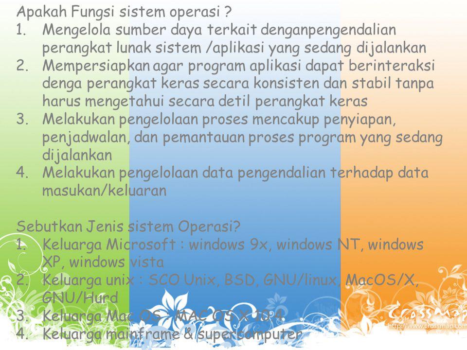 Apakah Fungsi sistem operasi .