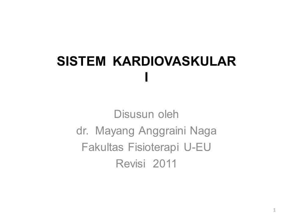 SISTEM KARDIOVASKULAR I Disusun oleh dr.