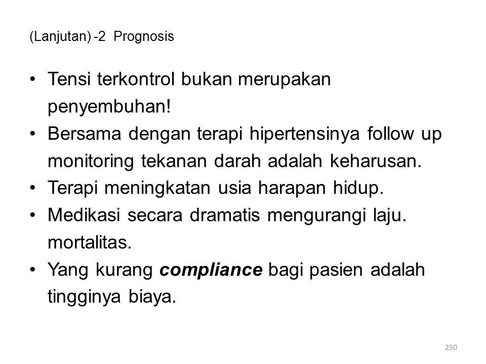 (Lanjutan) -2 Prognosis Tensi terkontrol bukan merupakan penyembuhan.