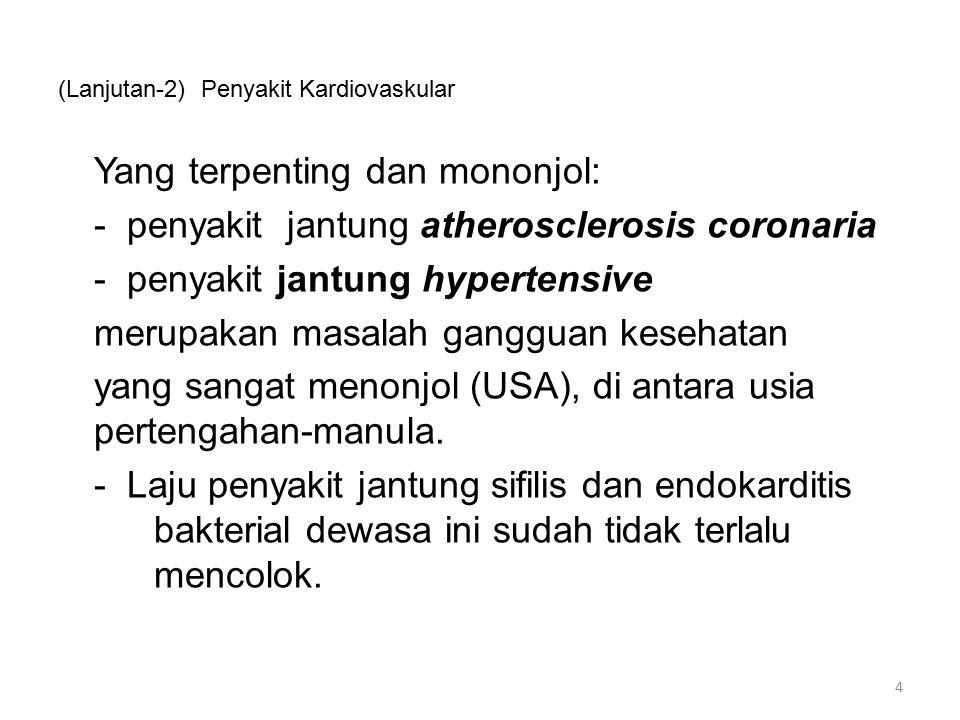 (Lanjutan) Infeksi Infeksi menimbulkan deformitas katub dan malfungsi dari katub terkait : -Mitral insuffiesiensi -Aortic insufisiensi -Tipe cardiomiopati tertentu 65