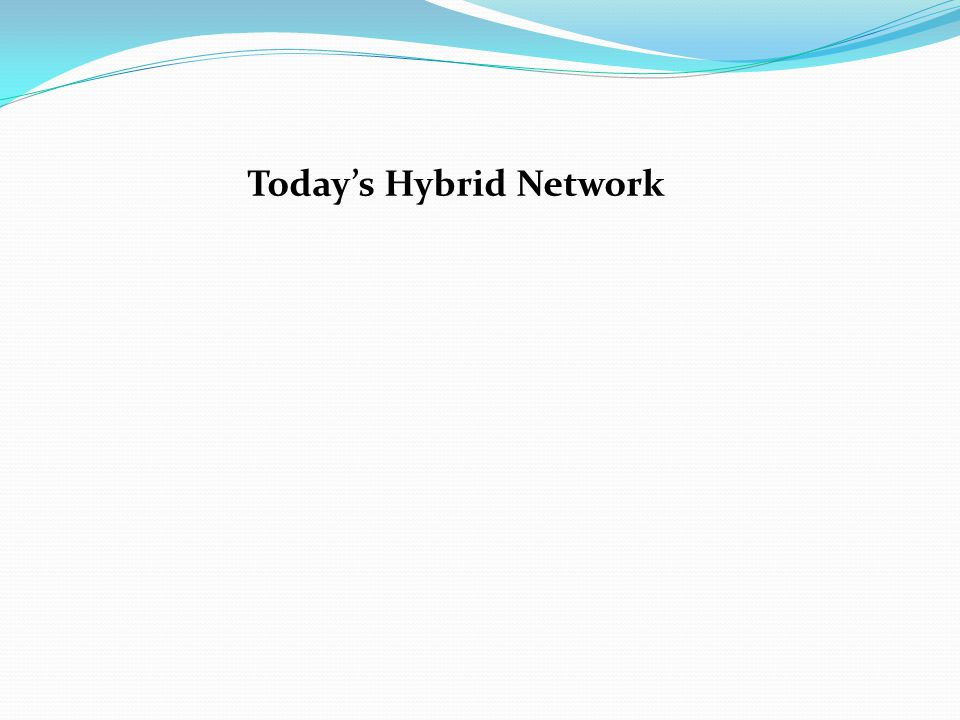 Today's Hybrid Network