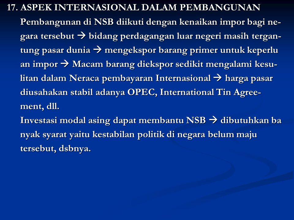 17.ASPEK INTERNASIONAL DALAM PEMBANGUNAN 17.