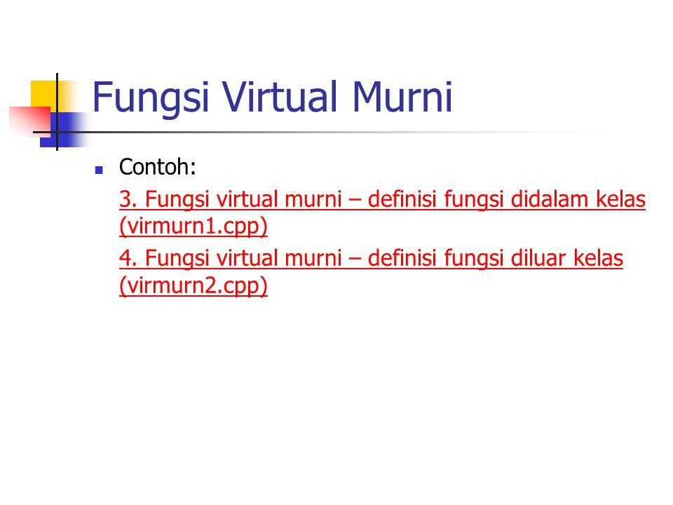 Fungsi Virtual Murni Contoh: 3.