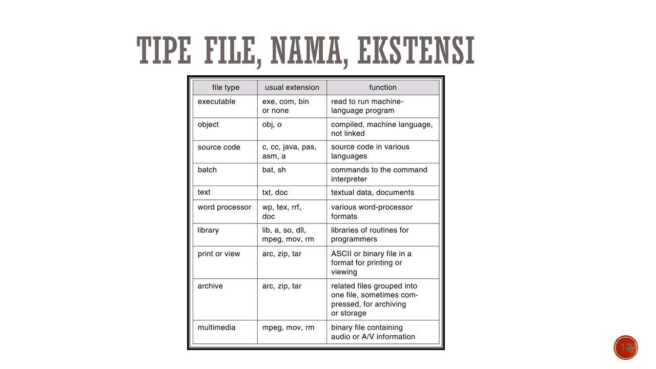TIPE FILE, NAMA, EKSTENSI 12
