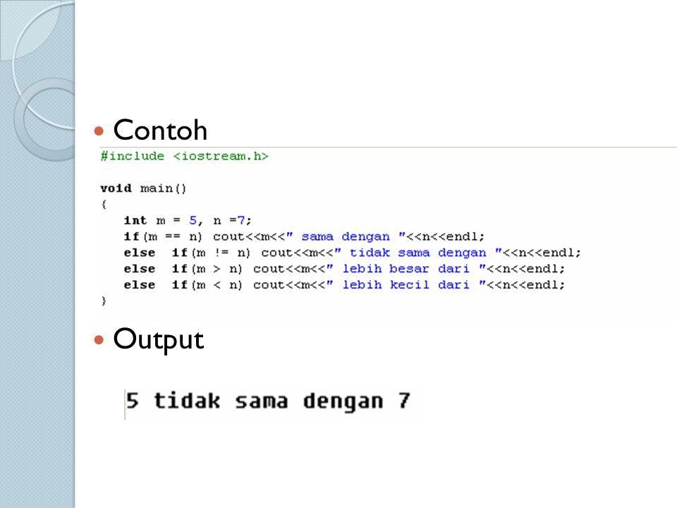 Contoh Output