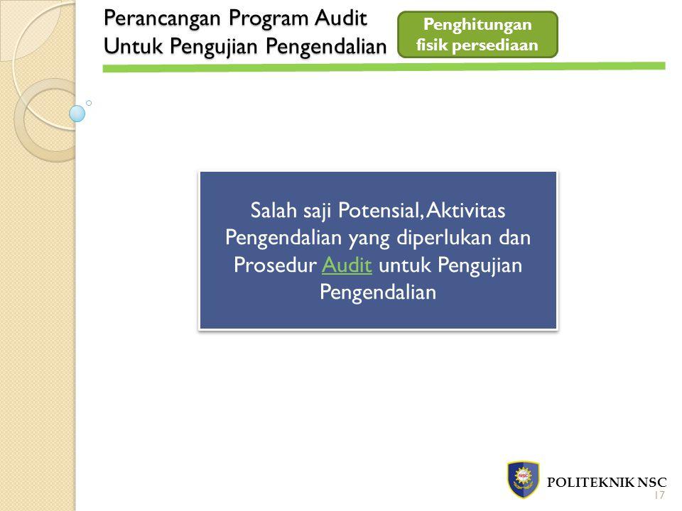 Perancangan Program Audit Untuk Pengujian Pengendalian POLITEKNIK NSC Salah saji Potensial, Aktivitas Pengendalian yang diperlukan dan Prosedur Audit