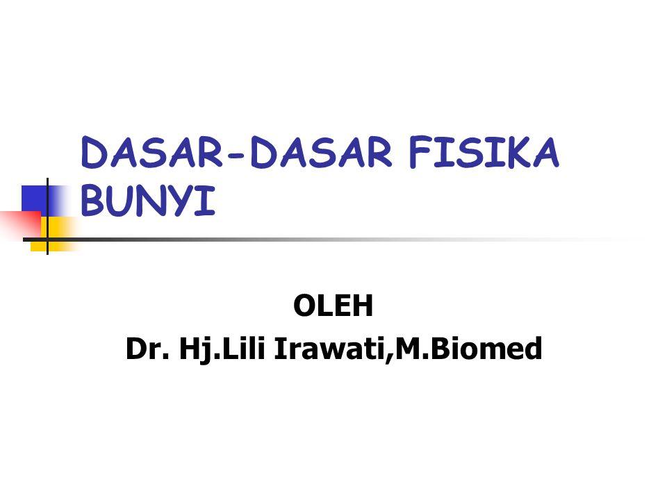 DASAR-DASAR FISIKA BUNYI OLEH Dr. Hj.Lili Irawati,M.Biomed
