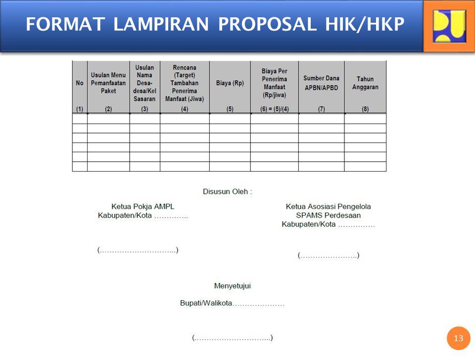 13 FORMAT LAMPIRAN PROPOSAL HIK/HKP
