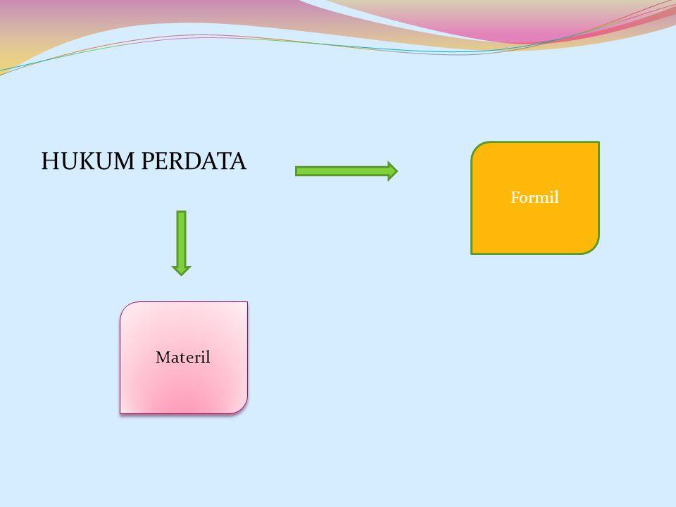 HUKUM PERDATA Materil Formil