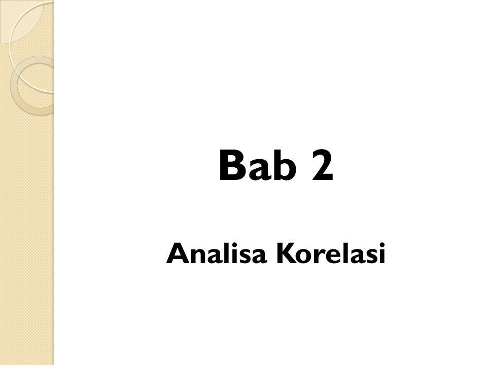 Bab 2 Analisa Korelasi