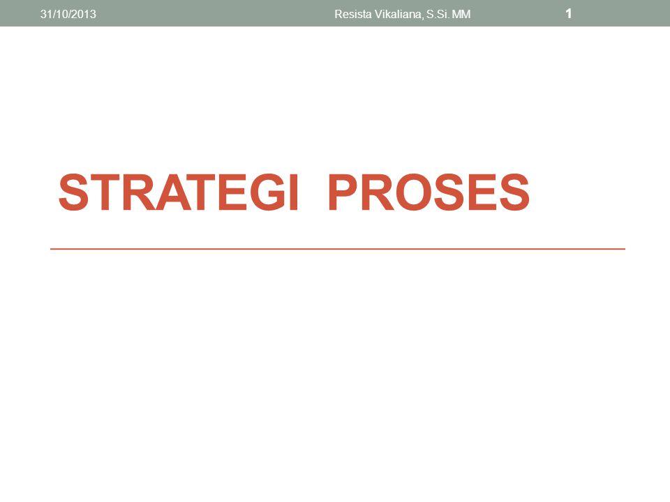 STRATEGI PROSES 31/10/2013Resista Vikaliana, S.Si. MM 2