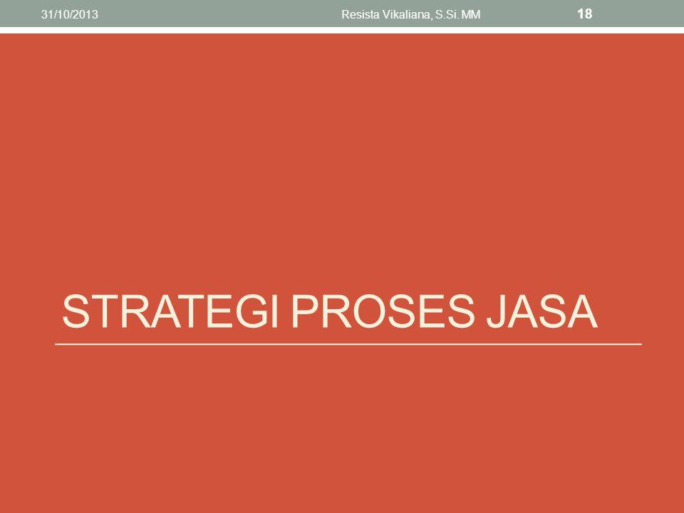 STRATEGI PROSES JASA 31/10/2013Resista Vikaliana, S.Si. MM 18