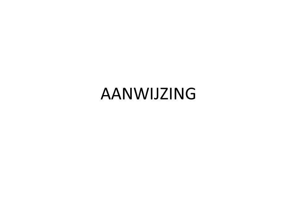 AANWIJZING