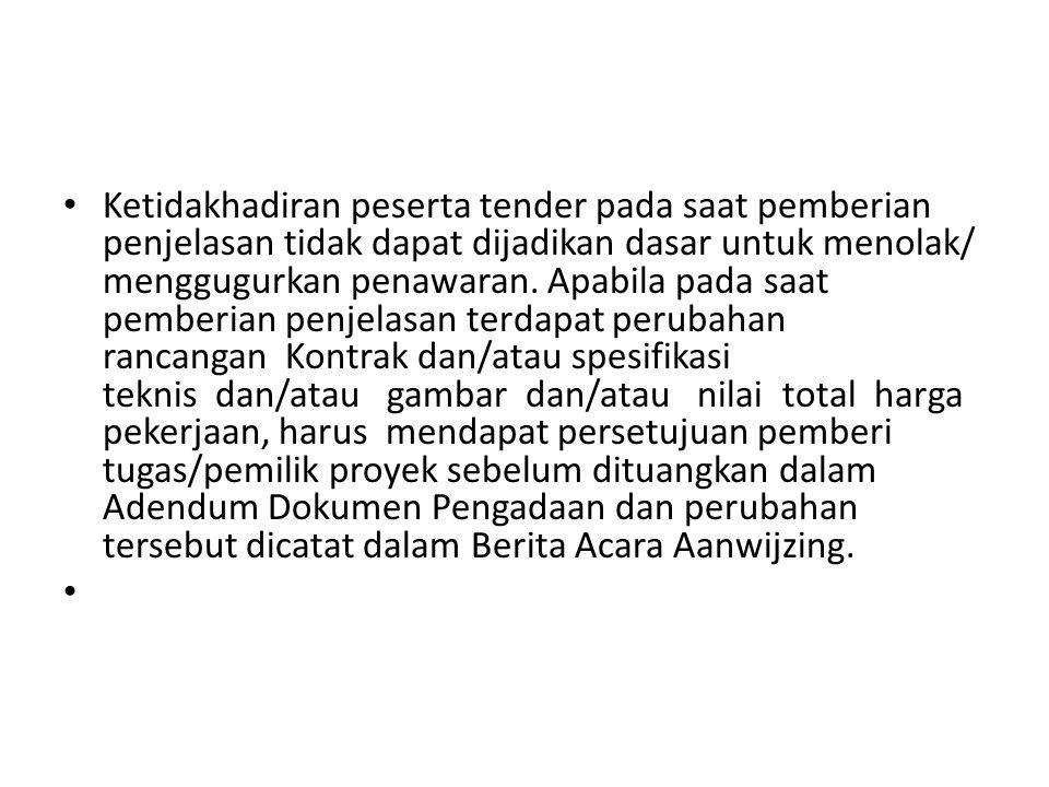 Oleh: Parfi Khadiyanto Dosen FT UNDIP Semarang Aanwijzing adalah penjelasan awal sebelum pekerjaan atau tender yang dilakukan.